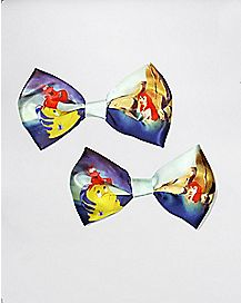 2 Pack Little Mermaid Bows