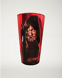 Daryl Dixon The Walking Dead Foil Pint Glass 16 oz