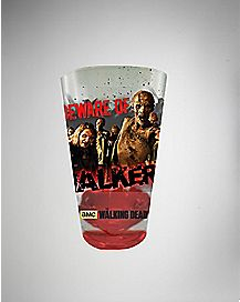Zombie Beware of Walkers Walking Dead Pint Glass 16 oz