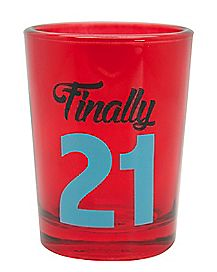 Finally 21 4oz Shot Glass