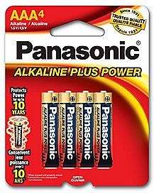 Panasonic 4 Pack AAA Alkaline Batteries