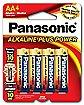 Panasonic 4 Pack AA Alkaline Batteries