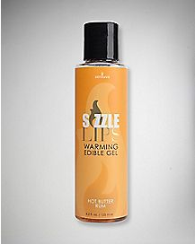 Sizzle Lips Warming Butter Rum Flavored Massage Gel - 4.2 oz.
