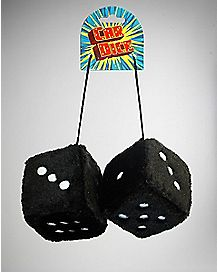 Black Shaggy Car Dice