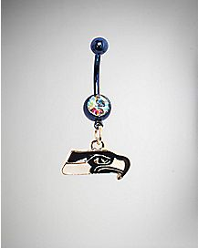 Seattle Seahawks NFL Belly Ring - 14 Gauge