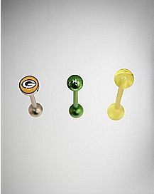 Green Bay Packers NFL Barbell 3 Pack - 14 Gauge
