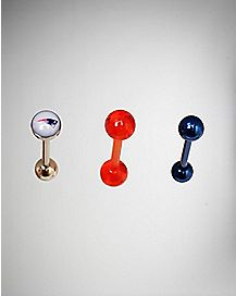 NFL New England Patriots Barbells 3 Pack - 14 Gauge