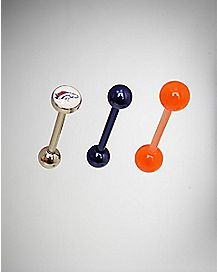 NFL Denver Broncos Barbells 3 Pack - 14 Gauge