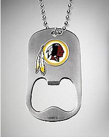 NFL Washington Redskins Bottle Opener Dog Tag Necklace
