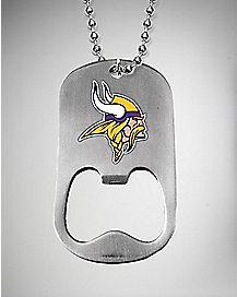 NFL Minnesota Vikings Bottle Opener Dog Tag Necklace