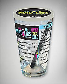 Over the Hill Mad Libs Pint Glass 16 oz