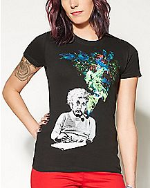 Smoking Einstein T shirt