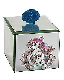 Ariel The Little Mermaid Glass Jewelry Box