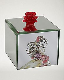Beauty and the Beast Belle Glass Jewelry Box