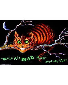 We're All Mad Here Wonderland Blacklight Poster