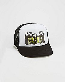 Nuns Out Guns Out Trucker Hat