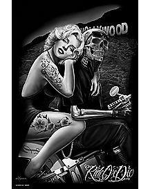 Ride or Die Hollywood Homegirl Marilyn Poster