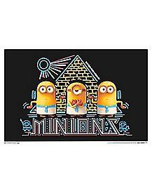 Minions Blacklight Poster