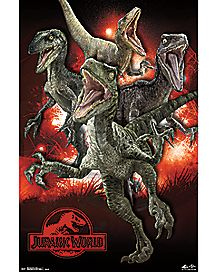 Raptors Jurassic World Poster