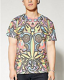 Psychedelic Sublimation T shirt