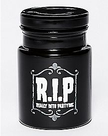 R.I.P. Storage Jar - 6 oz Black Glass