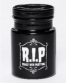 R.I.P. Storage Jar - 6 oz Black Glass
