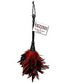 Red Feather Duster