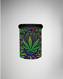 Leaf Print Storage Jar - 3 oz Glass