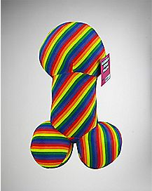 Rainbow Penis Pillow