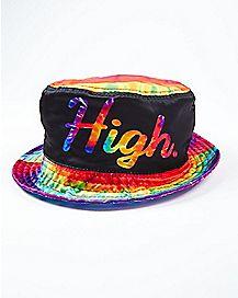 High Tie Dye Bucket Hat