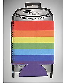 Striped Rainbow Can Cooler