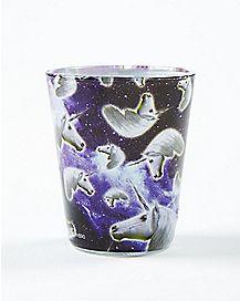Galaxy Unicorn Head Shot Glass 1.5 oz