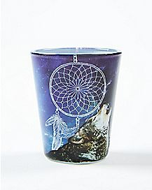 Wolf Dreamcatcher Shot Glass 1.5 oz