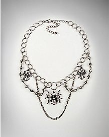 Spiderweb Choker Necklace