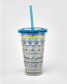 Batman Robin Joker DC Comics Cup with Straw