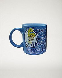 Glitter Always A Princess Cinderella Coffee Mug 20 oz - Disney