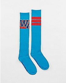 Athletic Varsity Wonder Woman Knee High Socks
