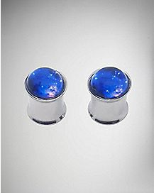 Blue and Purple Galaxy Plug 2 Pack