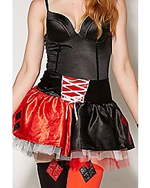Harley Quinn Lace-Up Petticoat Skirt