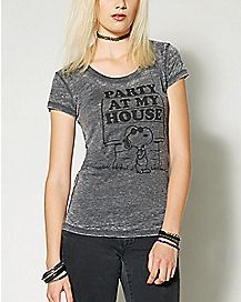 Party At My House Snoopy T shirt