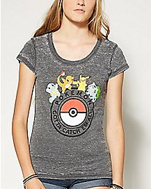 Group Pokeball Pokemon T shirt