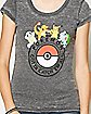 Group Pokeball Pokemon T shirt