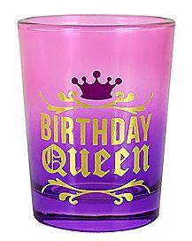 Oversized Birthday Queen Shot Glass 4 oz