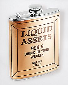 Liquid Assets Gold Bar Flask 7 oz
