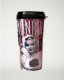 Pink Glitter Marilyn Monroe Travel Mug 16 oz