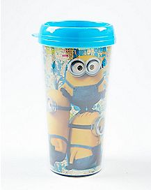 Glitter Minions Despicable Me Travel Mug 16 oz