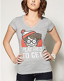 Hard To Get Where's Waldo T shirt