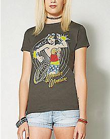 Spinning Wonder Woman T Shirt