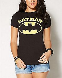 Faded Logo Batman Crew T shirt