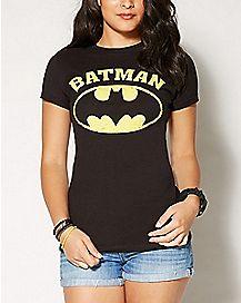 DC Comics Batman Faded Logo Crew T shirt